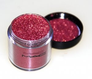 Mac rose pigment-- Love this on my cheeks
