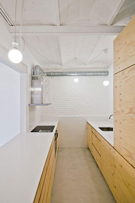 I love the simplicity here. It's a great way to re-vamp your kitchen in a new chic modern way. This style has the capacity to change your lifestyle completely, especially if you had something totally different before. It's easy to find inexpensive materials for this as well.