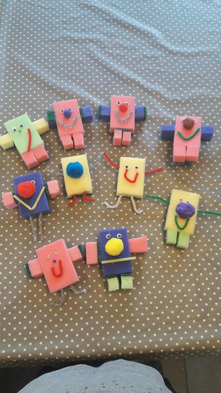 Robotter lavet af bl.a. grydesvampe stort hit i børnehaven