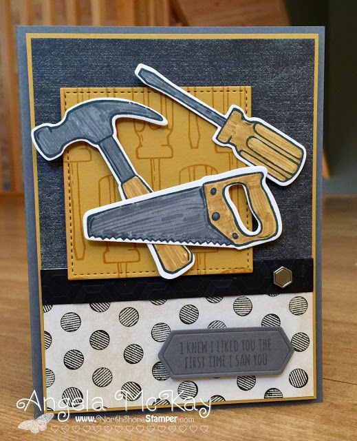 North Shore Stamper: Stampin' Royalty Challenge ~ Stripes and Polka Dots
