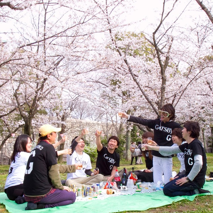 cherry-blossom party's in full swing