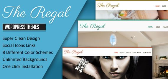 Regal Pro Version Features  Multiple Slides Support (6 images in slider) (Images/Video). 8 Builtin Color Schemes. Gallery / Contact Us Page Template. AJAX based Options Panel (More Easier). PDF Documentation. Background Images Bonus. Access to Members Area. Compatible In All Major Browsers.