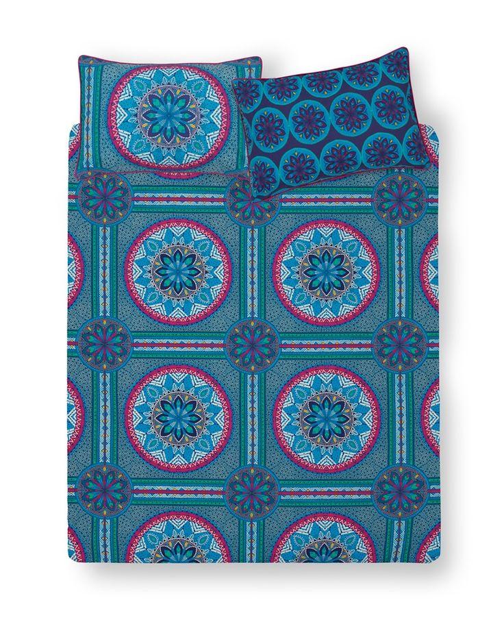 Primark - Blue Floral King Size Duvet Cover