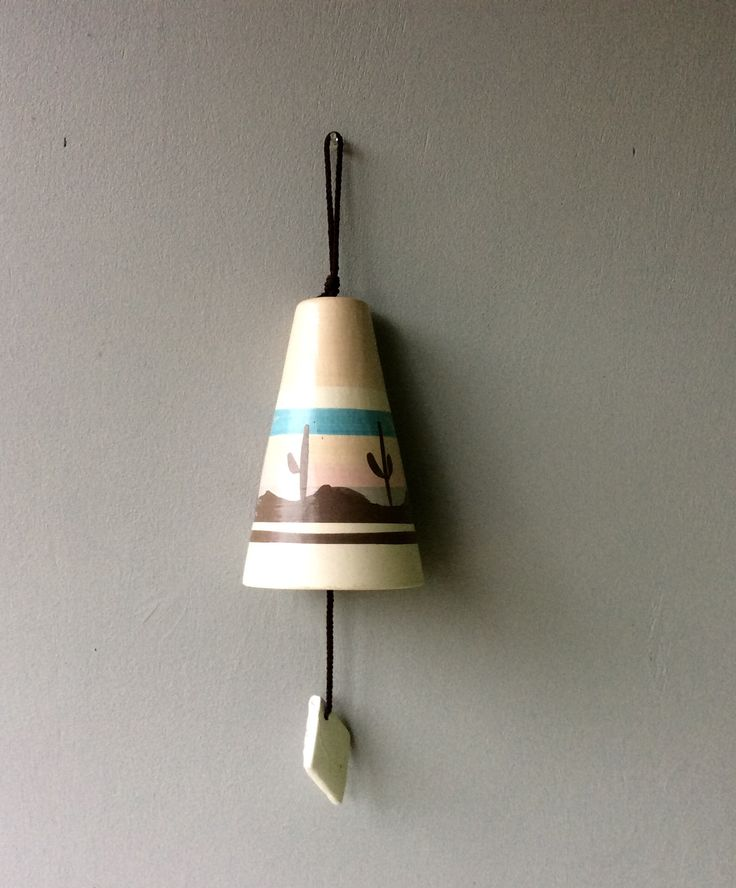 Southwestern vintage ceramic wind chimes // available at La Petite Revival