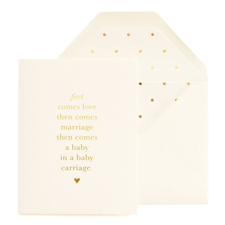 First Comes Love, Baby Card