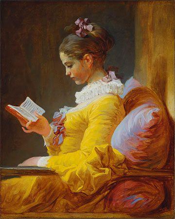 Jean-Honoré Fragonard - Young gril reading