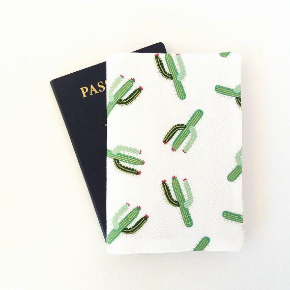 Cactus passport cover Cacti passport holder Succulents