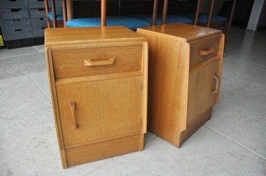 Pair of G Plan Brandon Retro Oak Bedside Cabinets Tables Original Egomme  | eBay