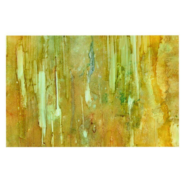 """Rosie Brown """"Rock City"""" Yellow Painting Decorative Door Mat"""
