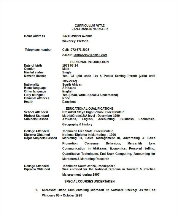 Resume Format Zookeeper 2 Resume Format Resume Format Resume