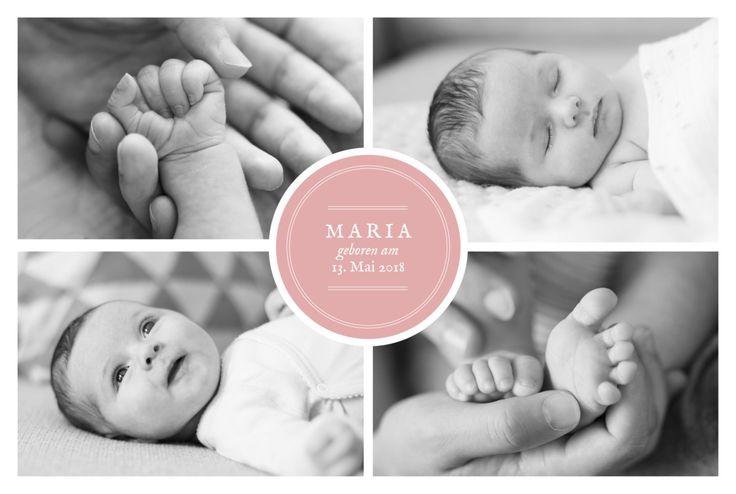 Sie haben viele schöne Fotos Ihres Babys und möchten eine Geburtsanzeige ohne Motiv? Dann könnte die Geburtskarte Stempel 5 Fotos die richtige ...