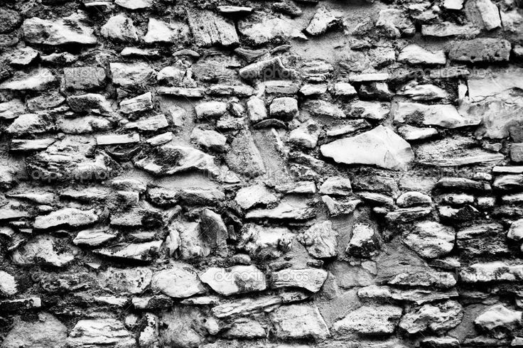 Stone Wall Abstract Black And White Texture listed in: