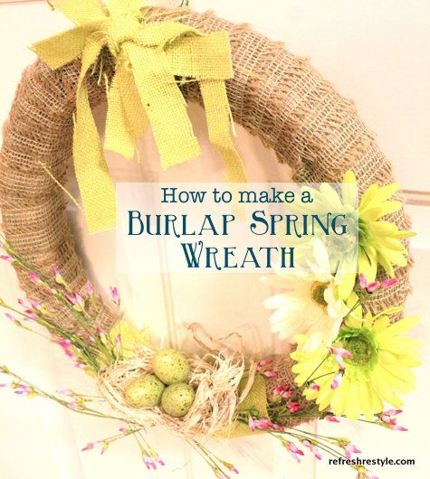 How to make a Burlap Pool Noodle Wreath