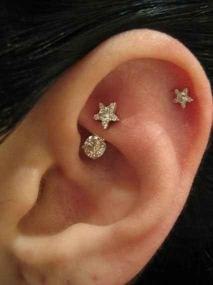 The Daith + Helix | 28 Adventurous Ear Piercings To Try This Summer