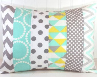 Cubierta de la almohadilla, vivero almohada cubierta, almohadilla de Patchwork…