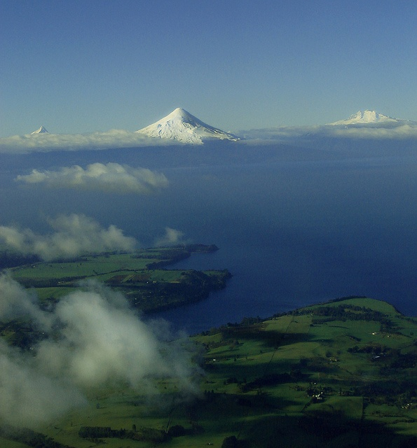 Llanquihue lake from the aircraft. South of Chile by Ricardo Villafane, via Flickr