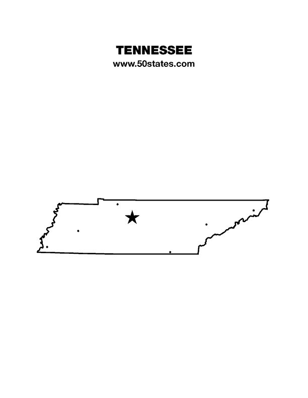 Blank Map Of Tennessee Find This Map And The Other 49