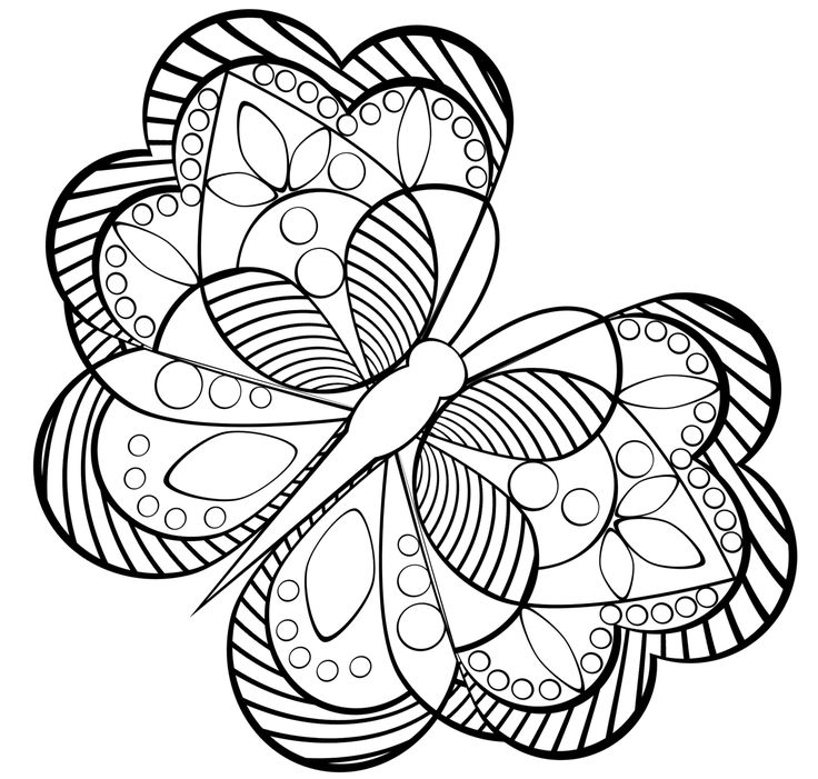 Adult Butterfly Coloring Page
