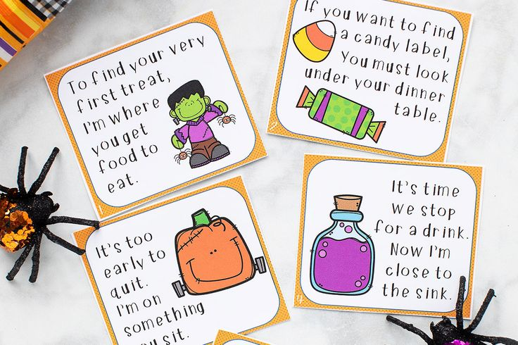 Halloween Scavenger Hunt (with free printable) The Best