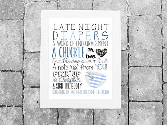 INSTANT DOWNLOAD // Baby Shower Activity: Late by HelloSunSHINExx