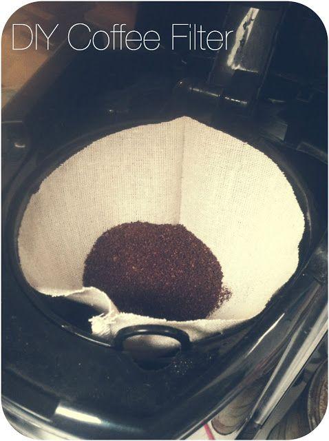 Chevron Stitches : DIY Reusable Coffee Filt