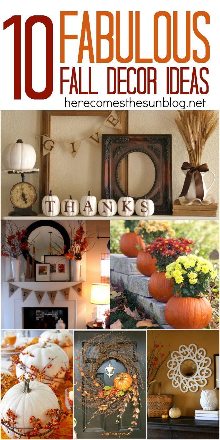 10 Fabulous Fall Decor Ideas for your home via http://herecomesthesunblog.net