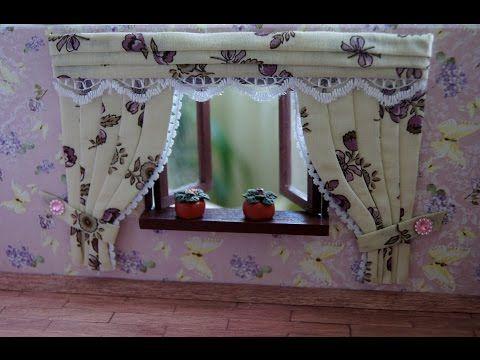 Видео мастер-класс: делаем шторы для кукольного домика - Ярмарка Мастеров - ручная работа, handmade