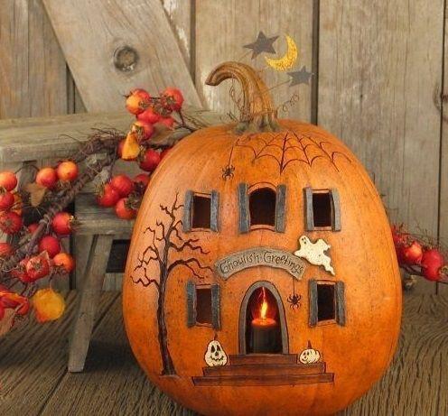 cute idea halloween househalloween pumpkinsholidays halloweenhalloween craftshalloween ideashalloween decorationsfall - Halloween And Fall Decorations