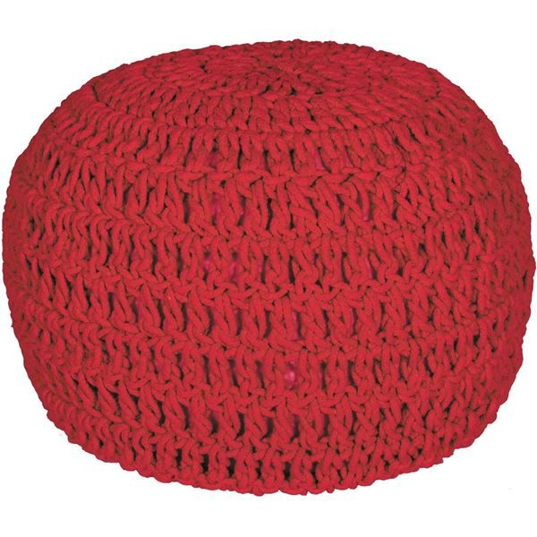 Red Cotton Rope Pouf by QINGDAO CHANGTAI ARTS CRAFTS is now available at American Furniture Warehouse. Shop our great selection and save!