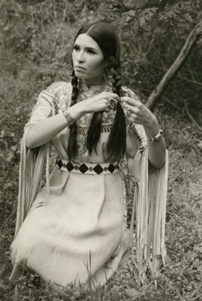 Sacheen Littlefeather - best known for refusing Marlon Brando's Oscar at the Academy Awards.: