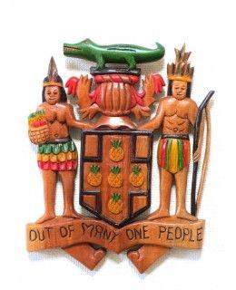 Jamaica coat of arms/ジャマイカの国章 (37cm*29cm)
