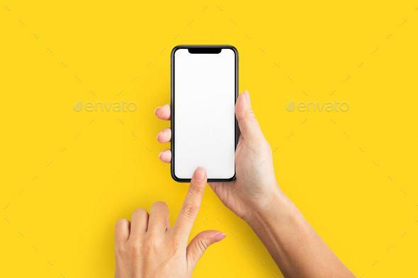 Mockup Of Female Hand Holding Cell Phone With Blank Screen By Prostock Studio Mockup Of Female Ha Hand Holding Phone Phone Template Instagram Feed Ideas Posts