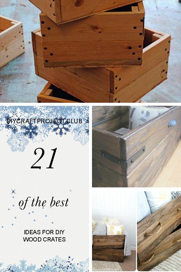 21 der besten Ideen für Holzkisten  – DIY Wood Ideas