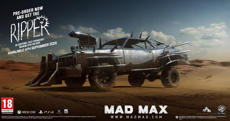 Warner Bros and Avalanche Studios have lifted the lid on the pre-order bonus for Mad Max.