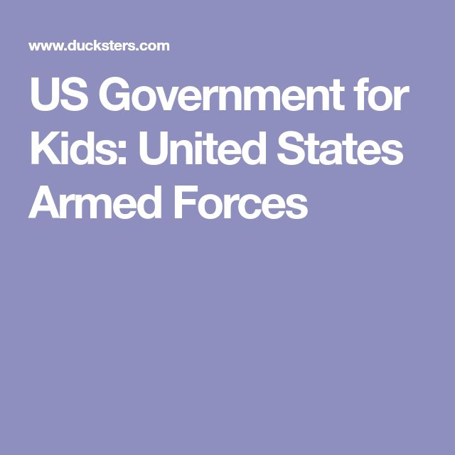 US Government for Kids: United States Armed Forces