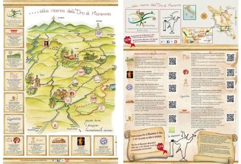 La mappa per la ricerca dell'Oro di Maremma, Associazione Promozione Turistica Città del Tufo, Toscana