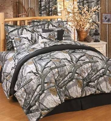 Snow camo bedding