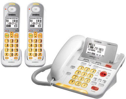 Uniden D3098 Corded - Cordless 1.9GHz DECT 6.0 Combo Telephone + 1 DCX309 Cordless Handset (Amplified) Top Office Shop