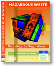 'Hazardous Waste - Decoding the Regulations' DVD  A guide for managers responsible for classifying and consigning waste.    Running time: 27 minutes    DVD £200 + VAT