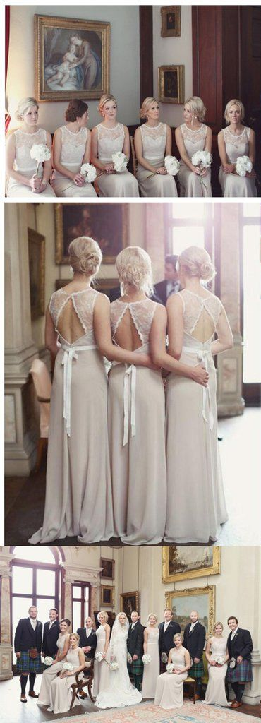 Charming Open Back Lace Top Illusion Cheap Long Wedding Party Dress Go – AlineBridal
