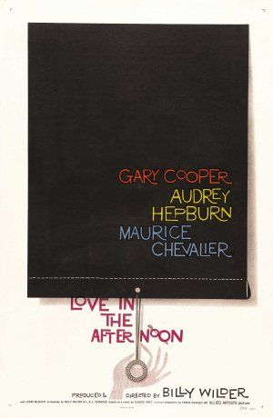 'Love in the Afternoon' by Saul Bass (1957). Looks like a movie I should watch.
