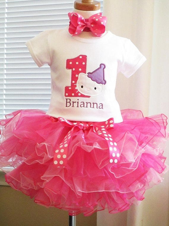 Hello Kitty Birthday Shirt with Layered by TutuBellaCoutureLtd, $69.95
