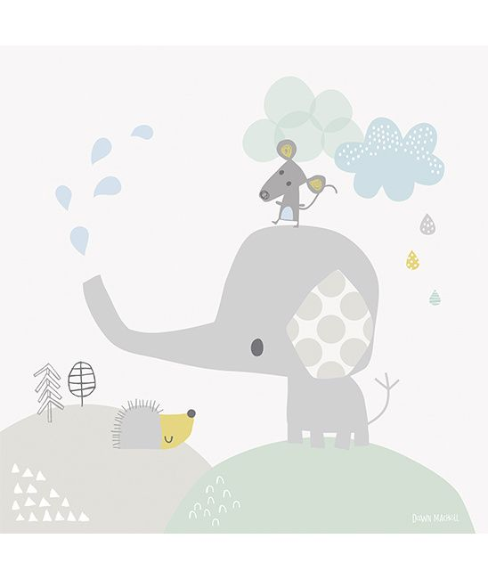 Smile, It's Raining Olifant - Canvas Poster