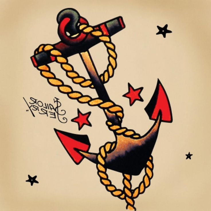 American Traditional Anchor Tattoo Tattoo Meanings Swallows Anchors ...