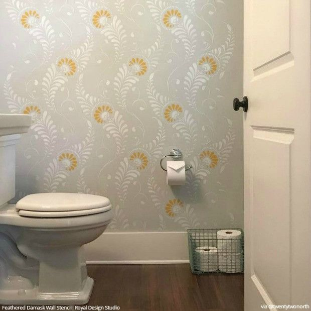 225 Best Damask Wall Stencils Images On Pinterest Royal Design And Stenciling