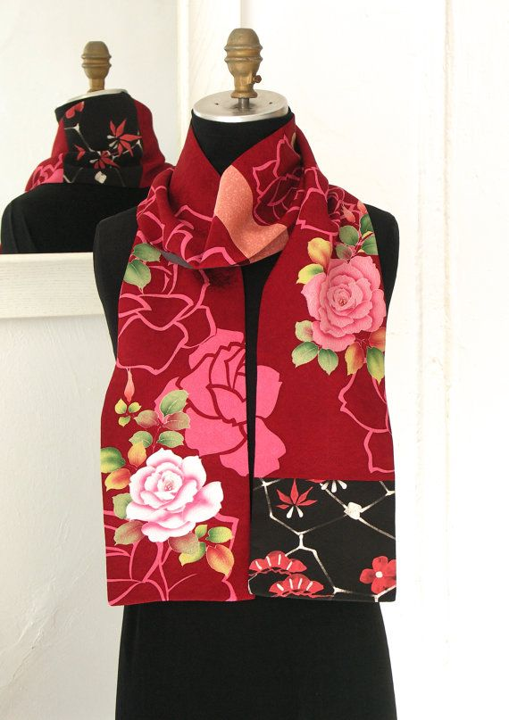 Silk Kiono Scarf Amazing Japanese Vintage Versitile par Wabiske