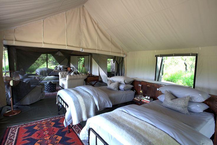 Family safari tent @ #MachabaCamp #Botswana