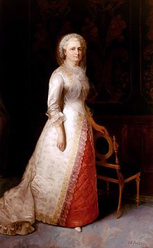 Martha Washington (1731-1802) America's first First Lady from 1789-1797.  Her marriage to President George Washington was her second.  Martha was known for interceding on behalf of those in need, especially veterans of the Revolutionary War.