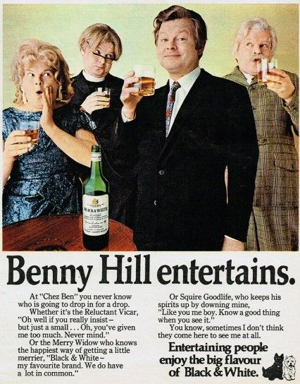 Benny Hill entertains...