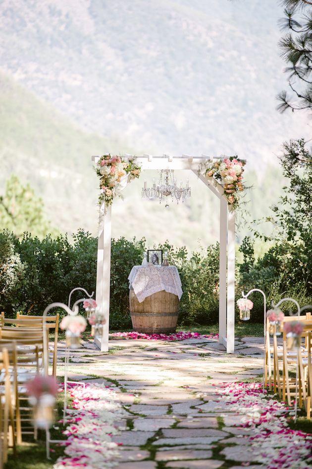 Rustic Elegance Wedding Ceremony Set Up